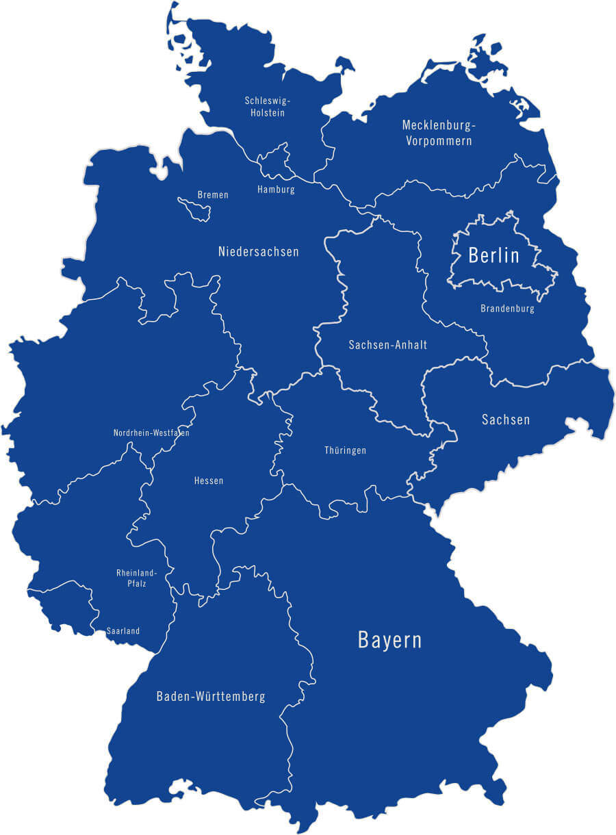 alte bundesländer karte